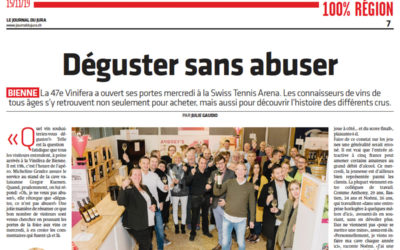 Le Journal du Jura «Déguster sans abuser»
